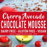 Cherry Avocado Chocolate Mousse Recipe Picture