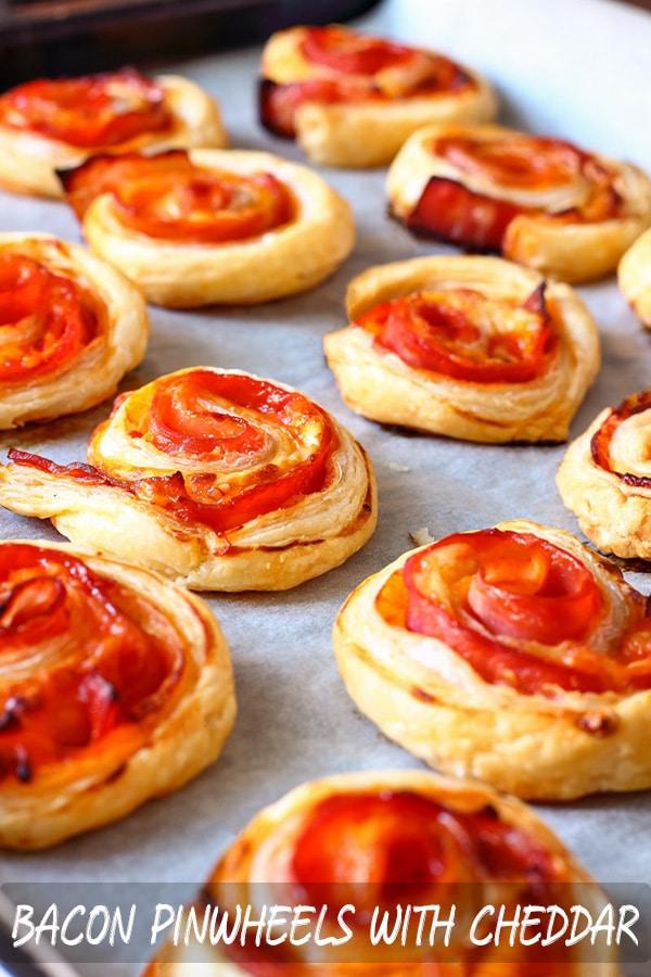 Easy Bacon Pinwheels with Cheddar Recipe