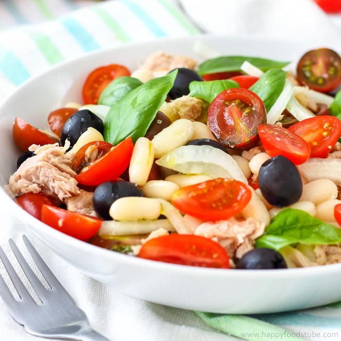 Tuna White Bean Salad {Video}