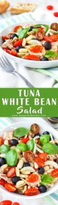 Tuna White Bean Salad Recipe Collage