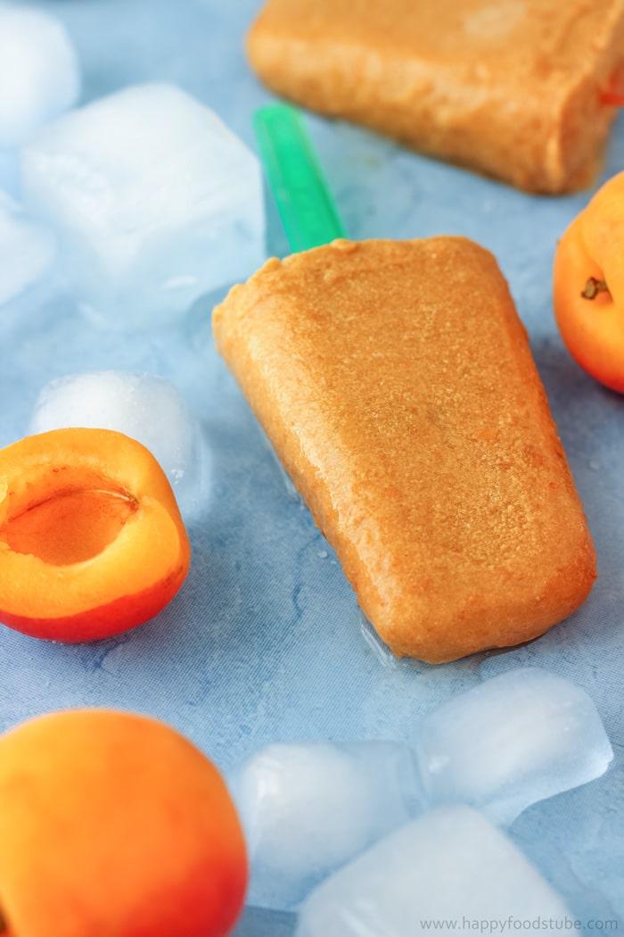 Apricot Coconut Popsicles Photo