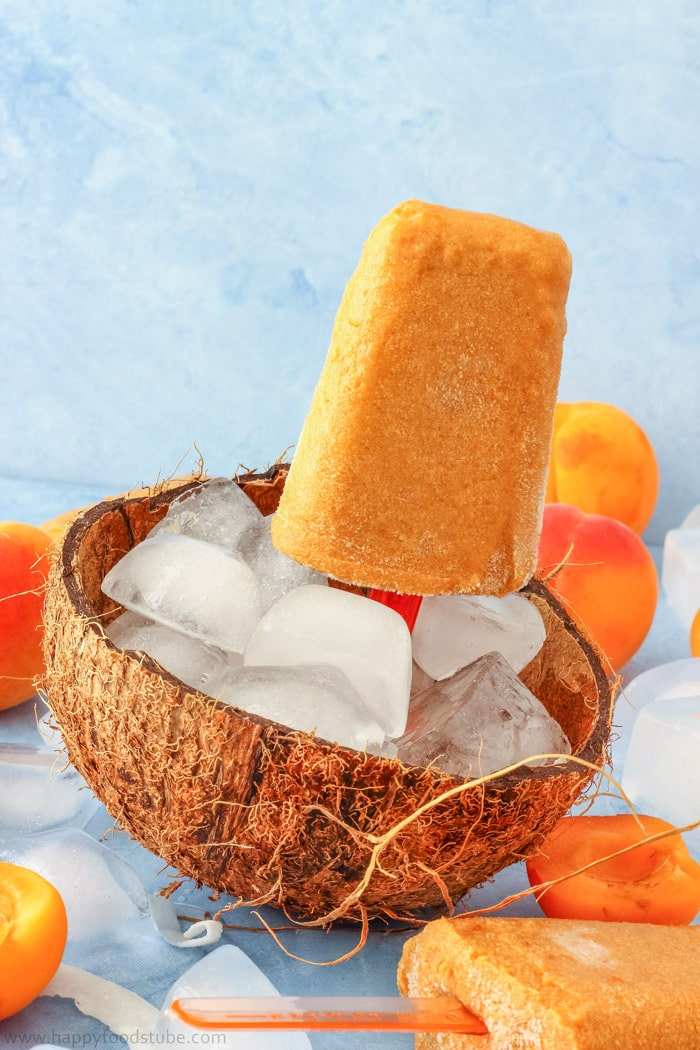 Apricot Coconut Popsicles Photos