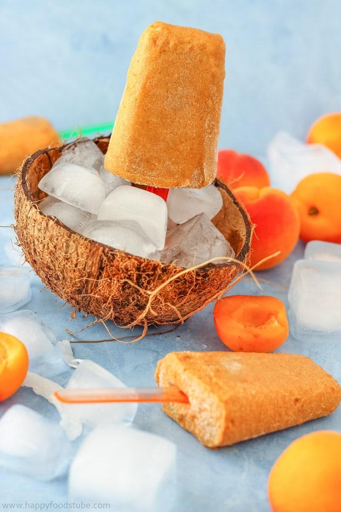 Apricot Coconut Popsicles Picture