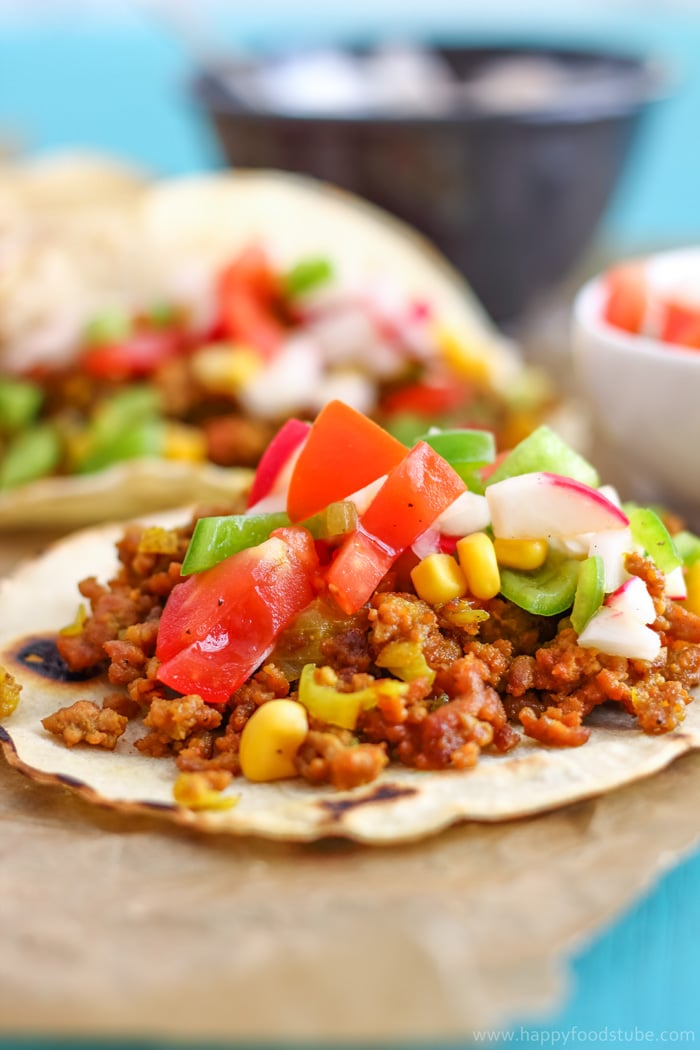 Curry Beef Tacos with Sweet Corn Salsa Photos