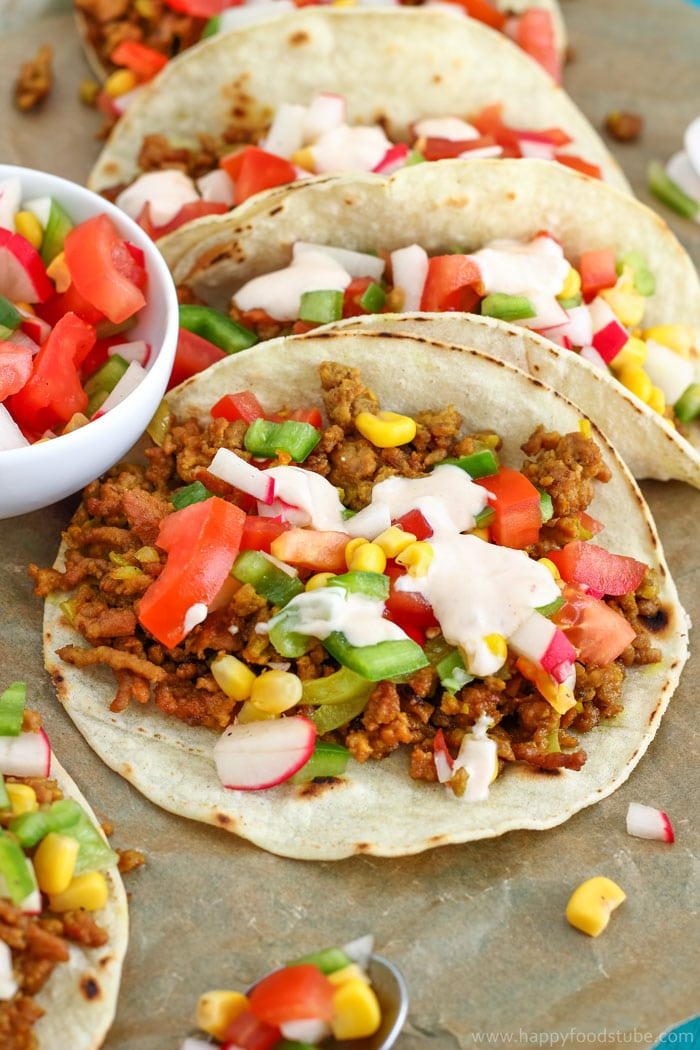 Curry Beef Tacos with Sweet Corn Salsa Pic
