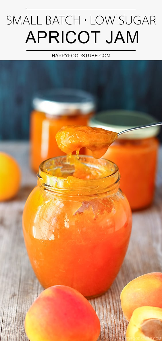 Easy Small Batch Low Sugar Apricot Jam Recipe