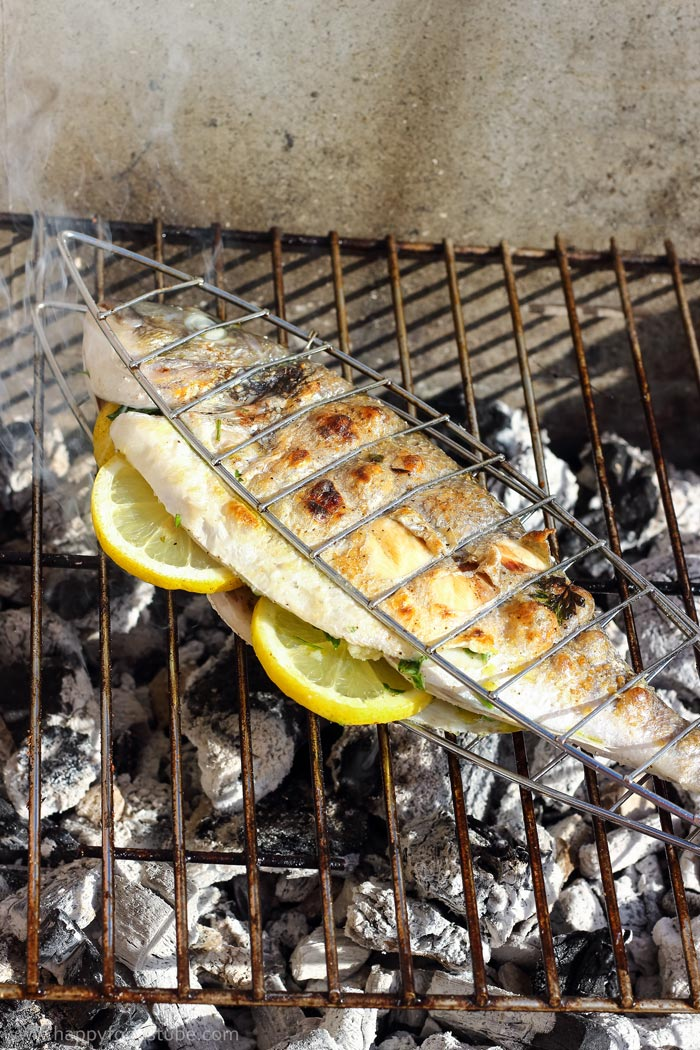 Grilled Whole Fish with Italian Bread Salad Photos