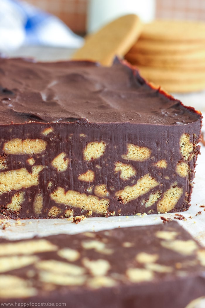 No Bake Chocolate Biscuit Cake Pic