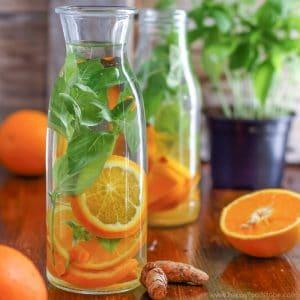 Orange Basil Infused Water Image