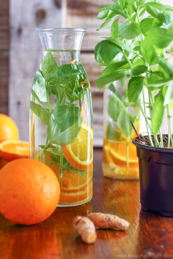 Orange Basil Infused Water Pic