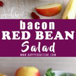 Bacon Red Bean Salad Recipe Collage