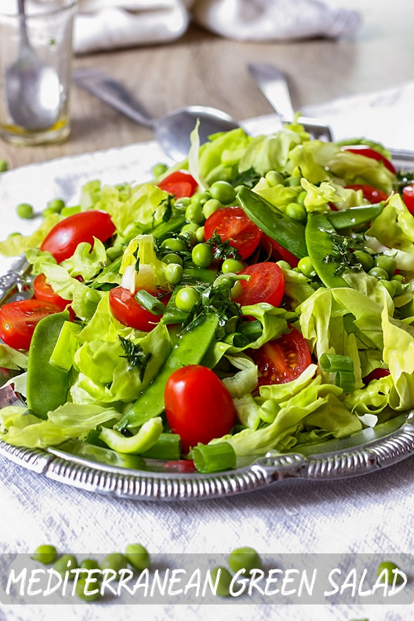 Healthy Mediterranean Green Salad Recipe