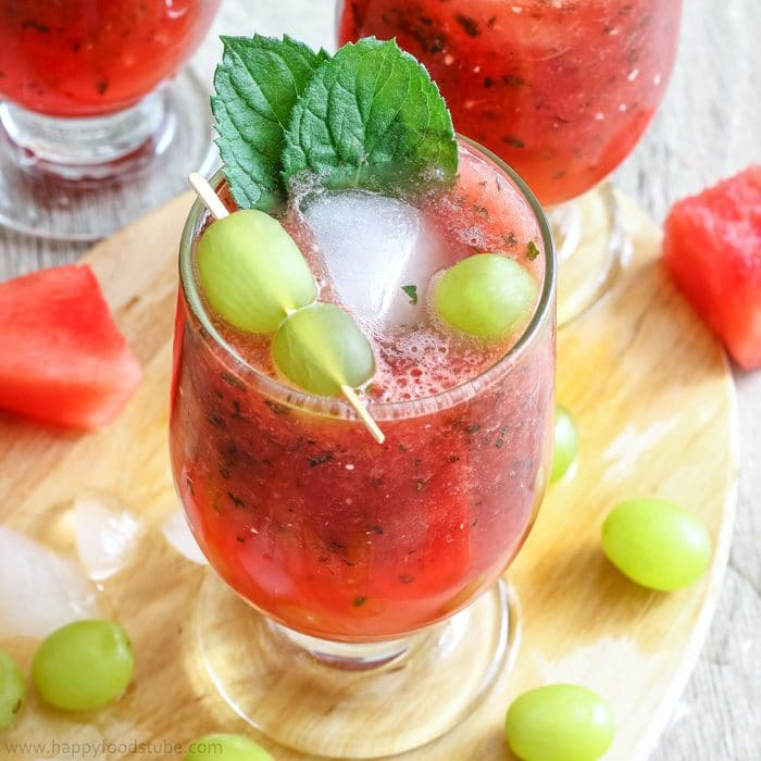 Refreshing Watermelon Juice with Grapes