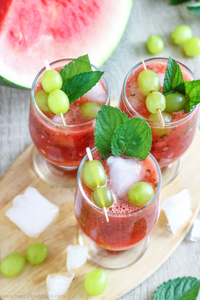 Refreshing Watermelon Juice with Grapes Pics