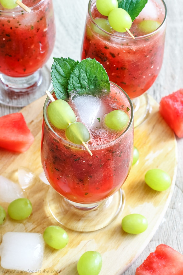 Refreshing Watermelon Juice with Grapes Picture