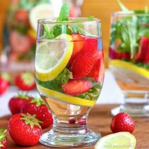 Strawberry Lemon Infused Water Image