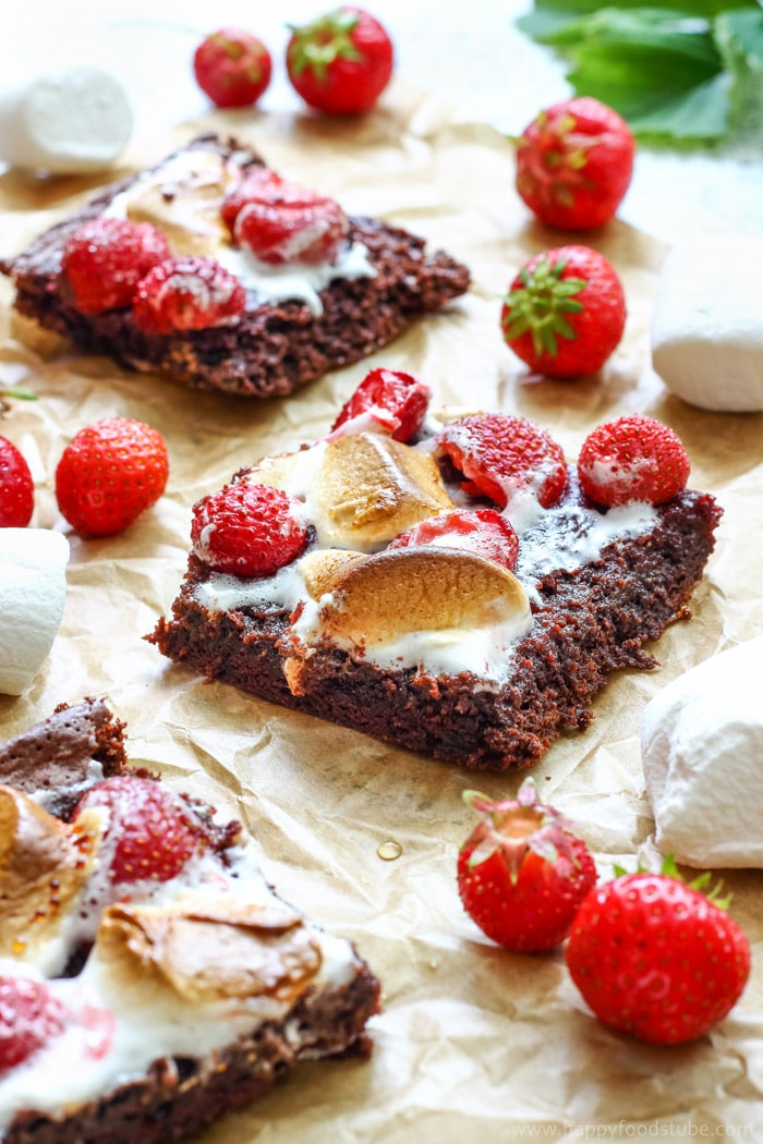 Strawberry Marshmallow Brownies Picture