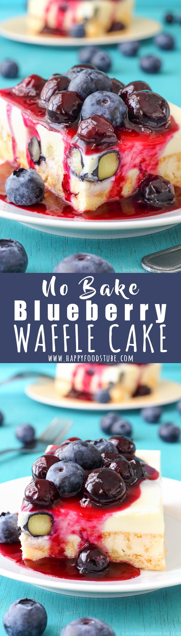 This White Chocolate Waffle Cake with Blueberries is our family favorite no bake dessert. Perfect homemade dessert recipe to satisfy your sweet tooth. Easy desserts to make at home without oven