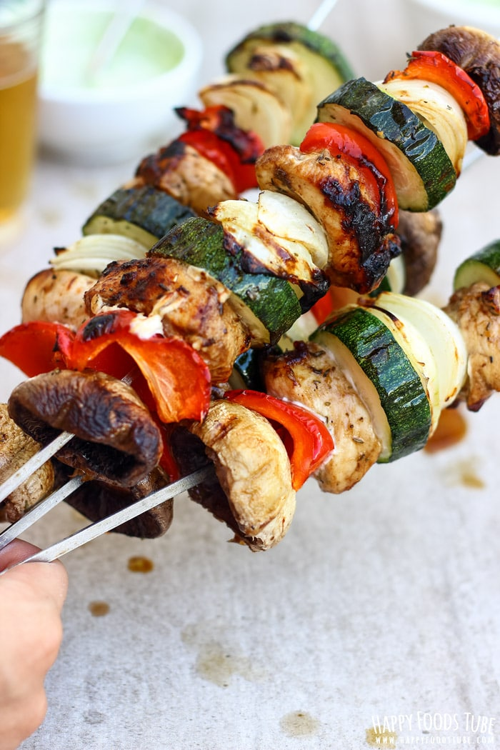 Balsamic Chicken Skewers Photos