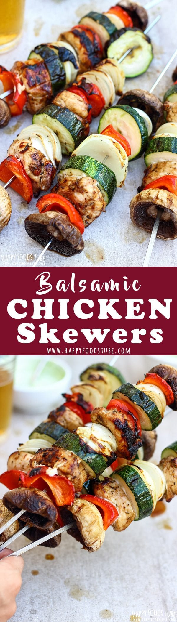 Balsamic Chicken Skewers Recipe Collage