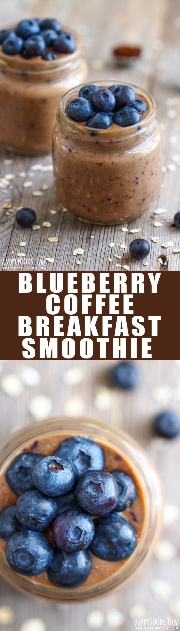 This is the ultimate breakfast for people on the go. Naturally sweet blueberry coffee breakfast smoothie is a quick and tasty way to start your day. Easy coffee smoothie recipe. Blender smoothie. Dairy free and gluten free smoothie. #smoothie #breakfast #coffee #instantcoffee #blueberry