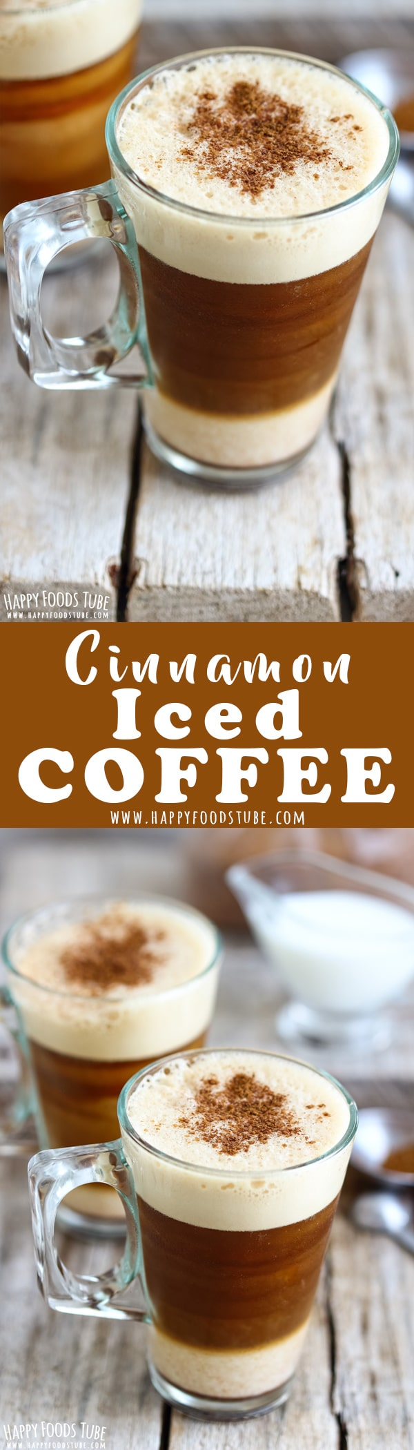 This cinnamon iced instant coffee is a refreshing & energizing summer drink. A layer of milk, followed by iced coffee and thick foam is finished off with cinnamon sugar. How to make iced coffee with instant coffee