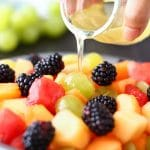 Fresh Fruit Salad with Coconut Honey Dressing
