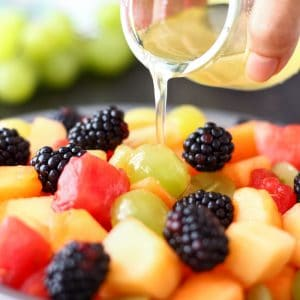 Fresh Fruit Salad with Coconut Honey Dressing Image