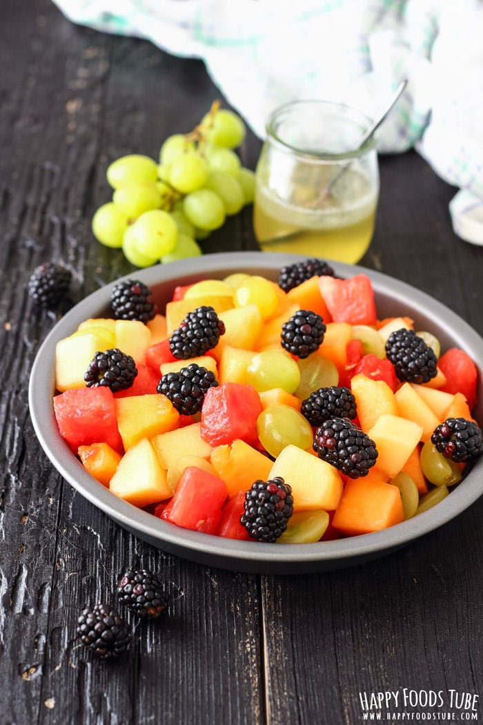 Fresh Fruit Salad with Coconut Honey Dressing Photo