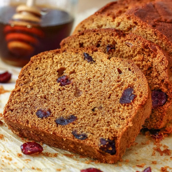 Honey Cranberry Bread Image
