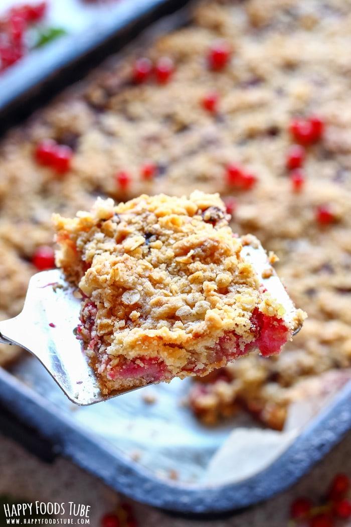 Redcurrant Crumb Bars Photo