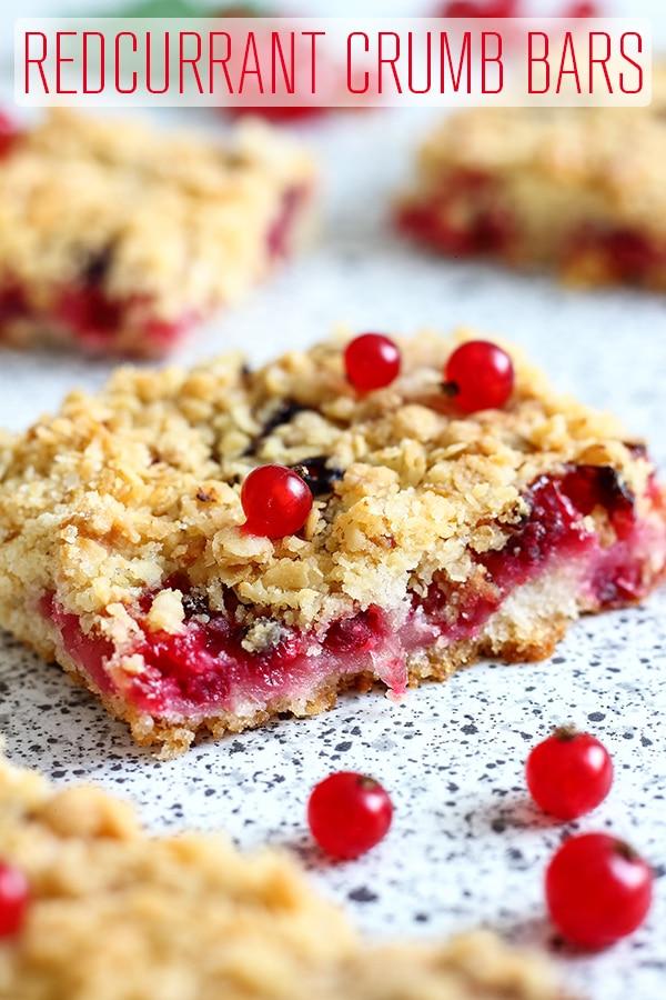 Redcurrant Crumb Bars Recipe