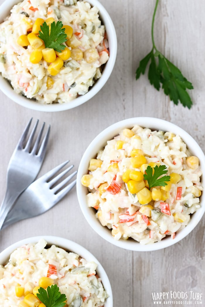 Rice Crab Stick Salad Photo