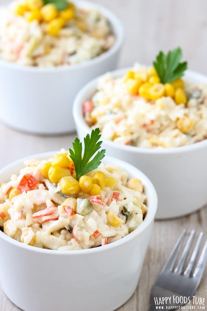 Rice Crab Stick Salad Picture