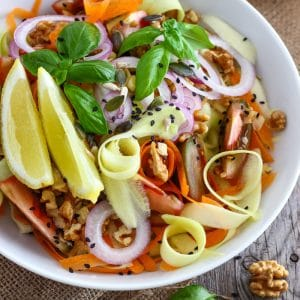 Shaved Zucchini Salad with Walnuts Image
