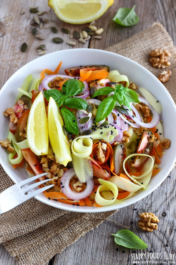 Shaved Zucchini Salad with Walnuts Pic