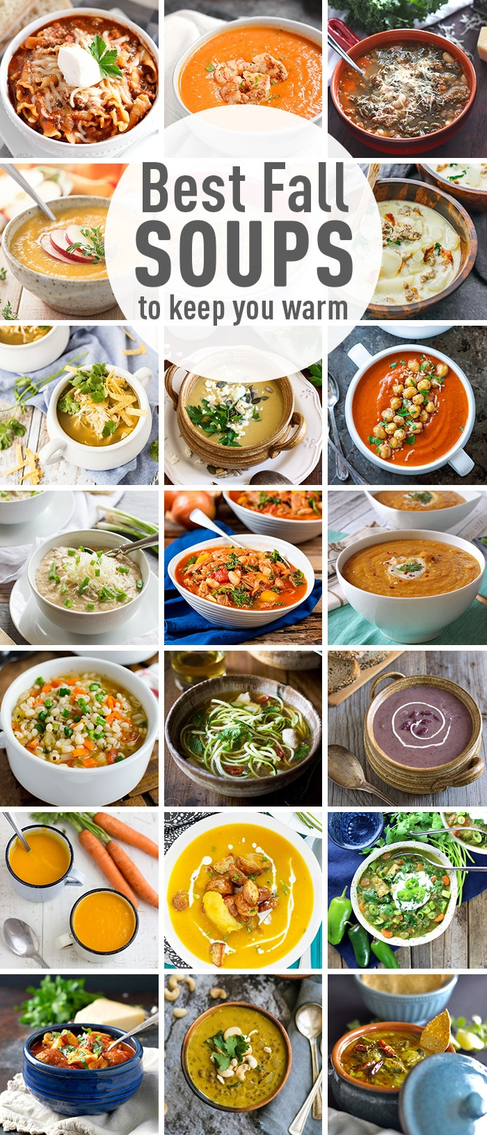 Nothing is better than a warm bowl of soup on a cold day. Check out the best fall soups that will keep you warm this rainy season. Collection of easy homemade soup recipes. #souprecipes #bestsoups