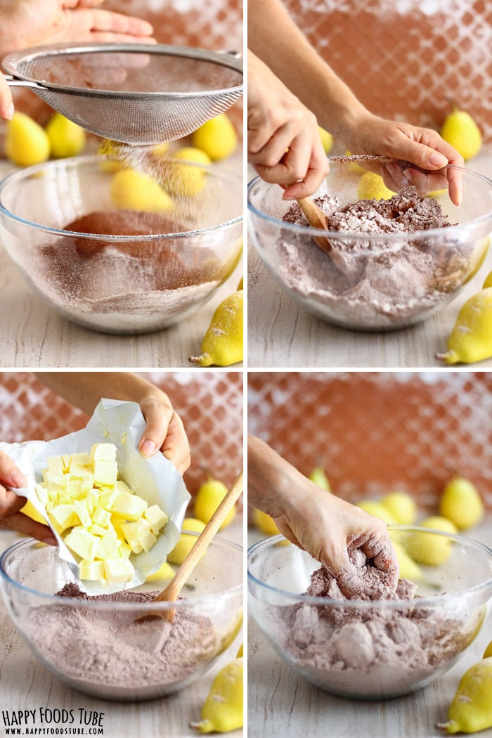 Step by step how to make Chocolate Pear Galette Picture