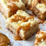 Caramel Apple Crumb Bars Dessert Recipe
