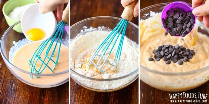 How to make Chocolate Chip Sweet Potato Pancakes Image