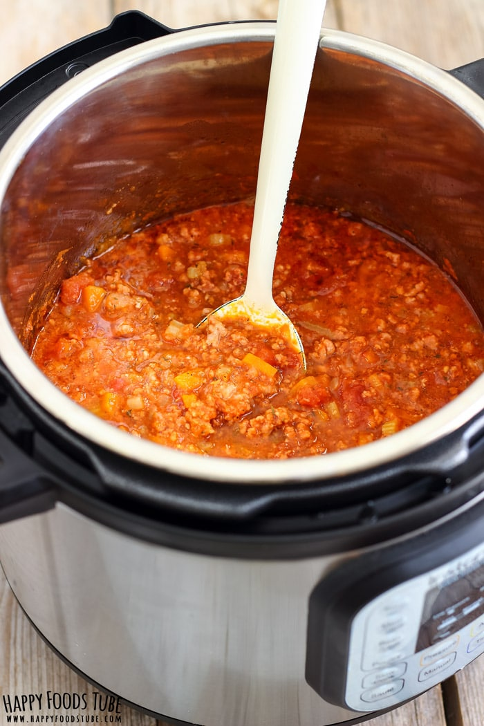 Instant Pot Bolognese Sauce - Pressure Cooker Bolognese Sauce