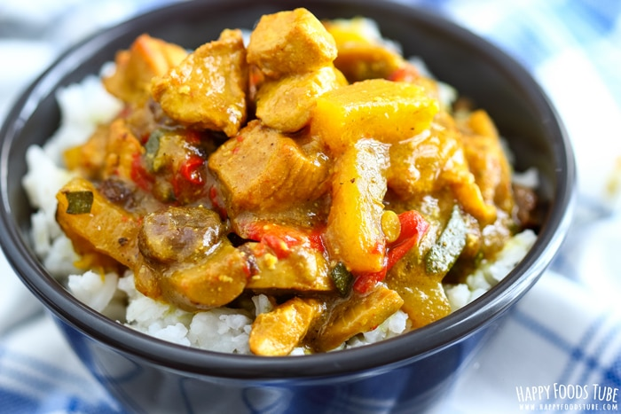 Instant Pot Chicken Curry Closeup Picture