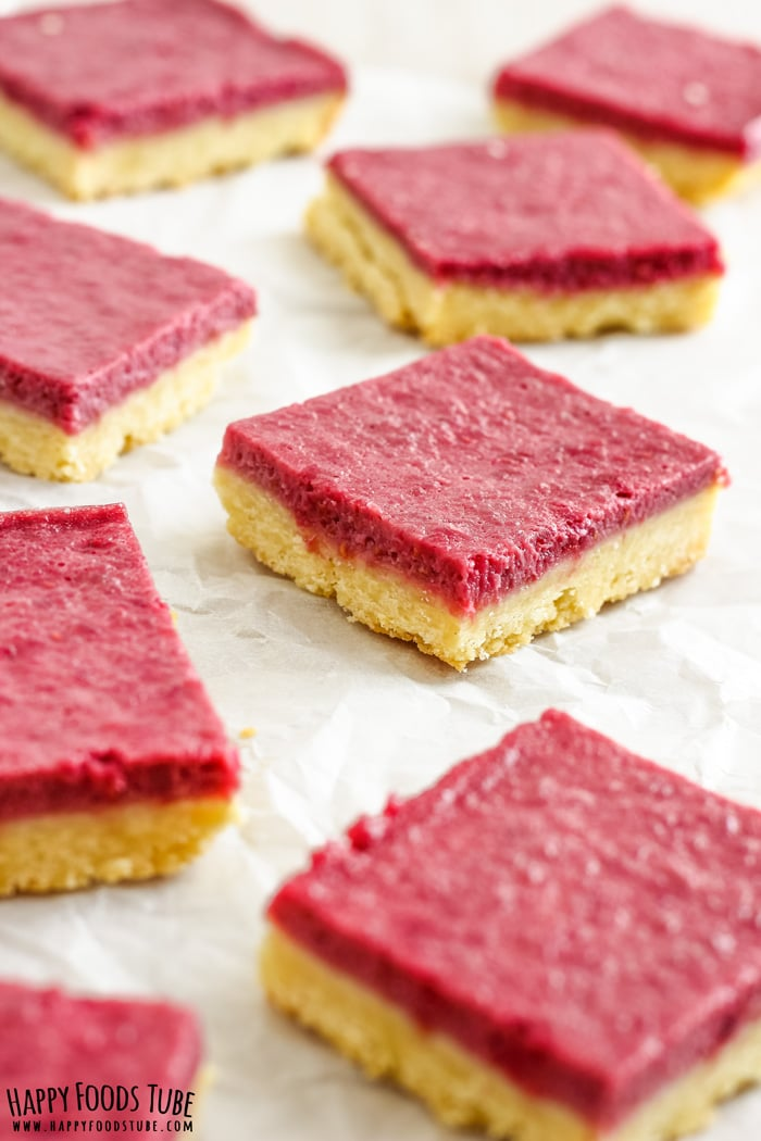 Raspberry Almond Bars Photos