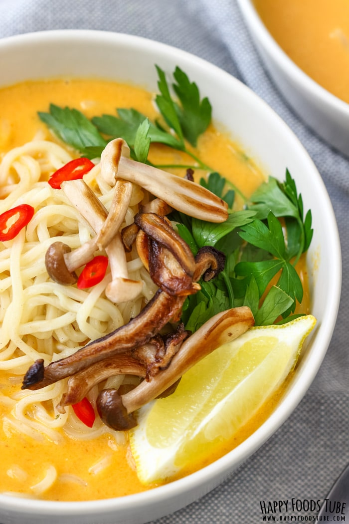 Spicy Thai Pumpkin Soup Closeup Picture