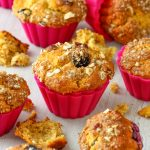 Blueberry Persimmon Muffins