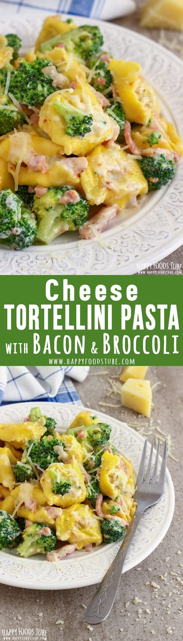 Cheese Tortellini Pasta with Broccoli and Bacon Recipe Picture