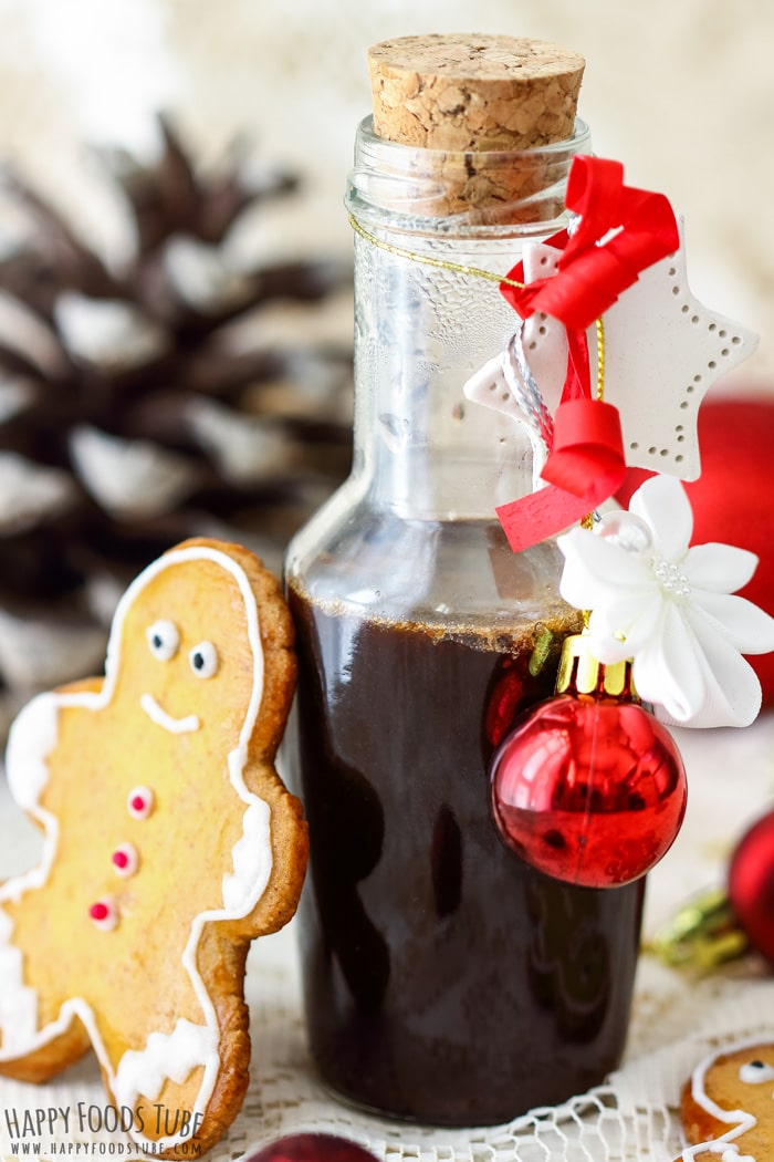 Homemade Gingerbread Syrup Holiday Picture