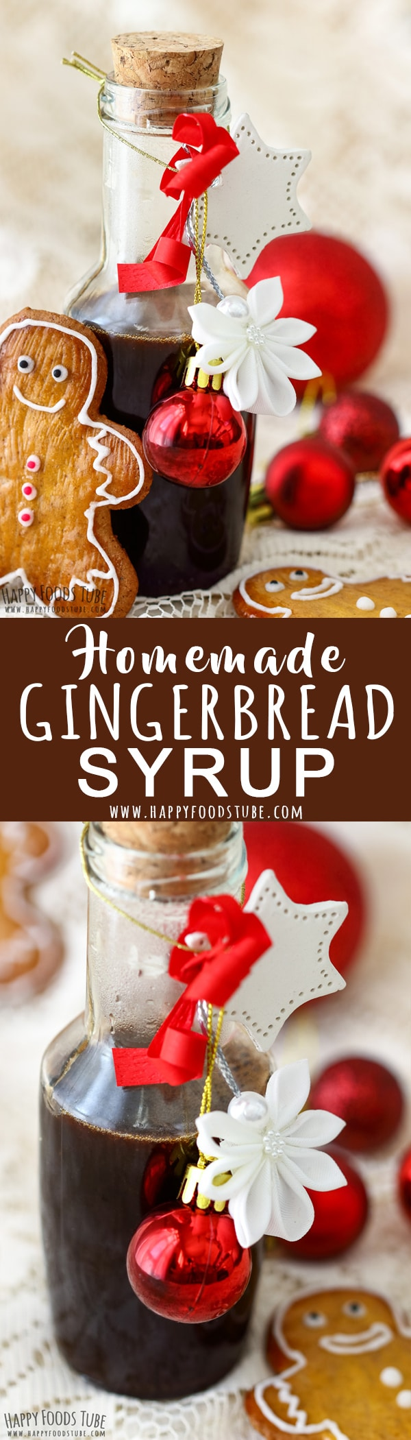 Love gingerbread flavor? Then you will fall in love with this homemade gingerbread syrup. It is all you need to flavor your pancakes, coffee, tea or crepes. Step by step how to make gingerbread syrup at home. #gingerbread #syrup #recipe #holidays #christmas #howtomake #homemade #coffee #pancakes