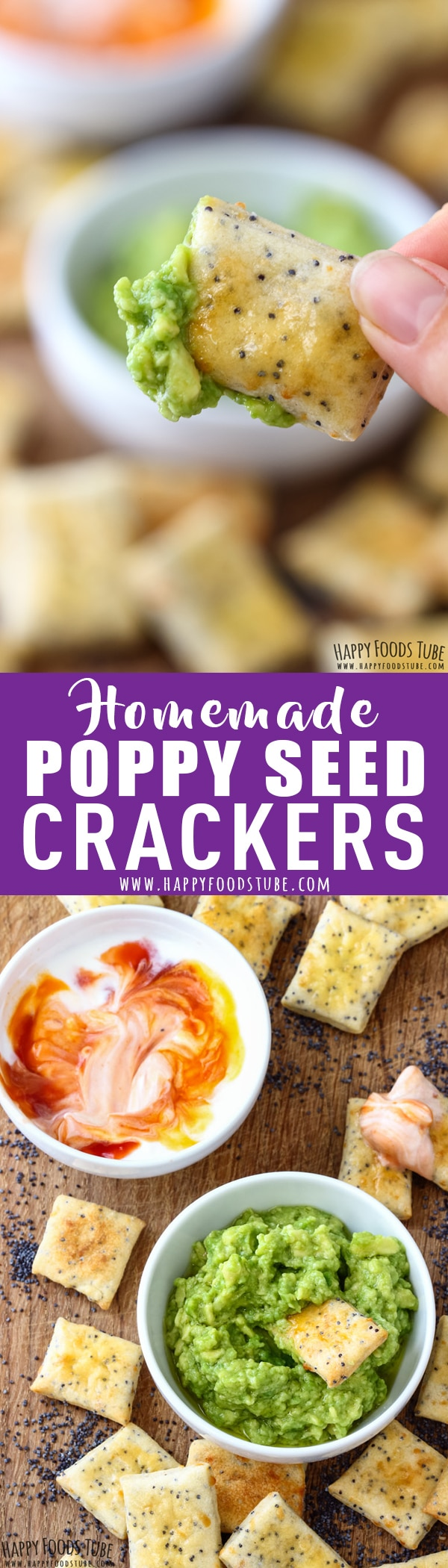These Delicious homemade poppy seed crackers are a must-have on your party menu. Poppy seed crackers perfect for dips, cheese platters or snacking. How to make crackers at home. Best savory snacks recipe. #homemade #crackers #recipe #cheese #baking #poppyseed #easy #howtomake #savory #snacks