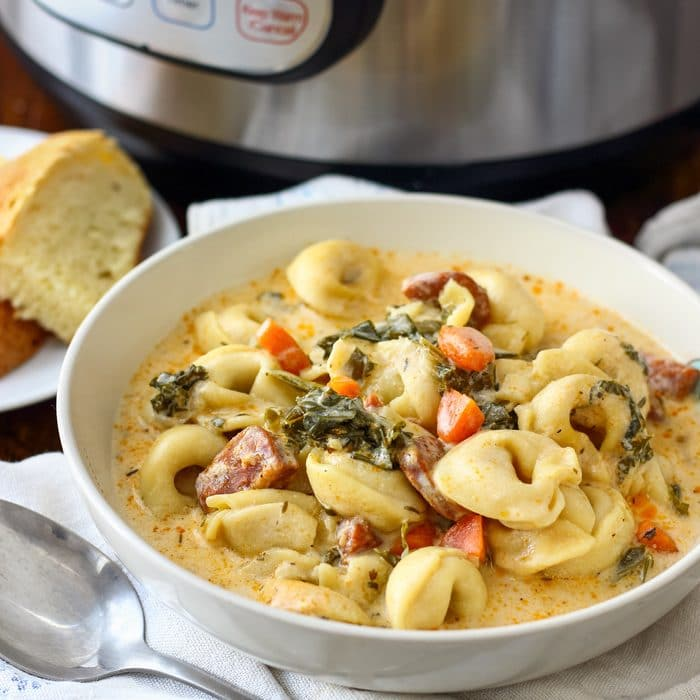 Instant Pot Creamy Tortellini Soup